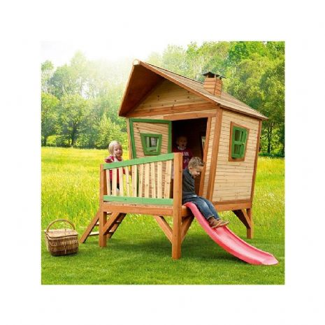 Sheringham Playhouse - Crazy Wooden Wendy House with Porch and Slide